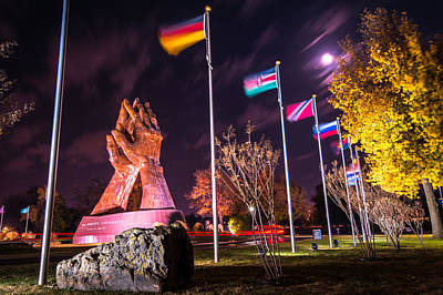 Christian Photograph - Praying Hands - Oral Roberts University by Gregory Ballos