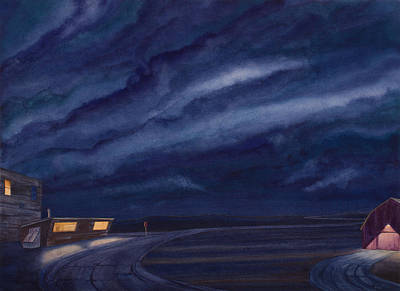 Visionary Painting - Pre-dawn On The Hi-line Iv by Scott Kirby