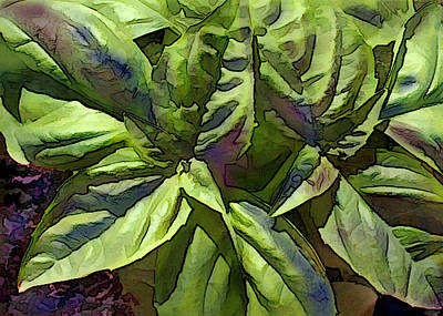 Meal Painting - Pre Pesto Plant by Elaine Plesser