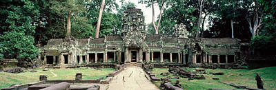 Khan Photograph - Preah Khan Temple, Angkor Wat, Cambodia by Panoramic Images