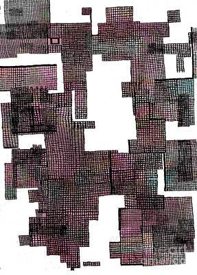 Gridlock Drawing - Precinct II by Andy  Mercer