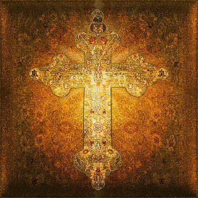 Collectible Mixed Media - Precious Holy Cross by Li   van Saathoff