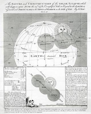 Predicted Solar Eclipse Of 1778 Print by Royal Astronomical Society