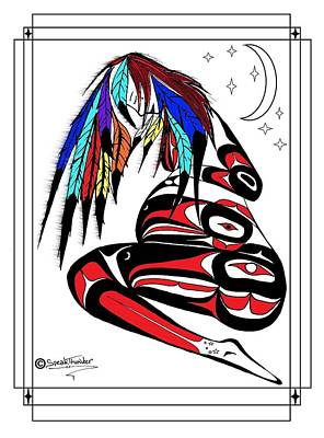 Prego Feathers Print by Speakthunder Berry