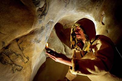 Historical Re-enactments Photograph - Prehistoric Cave Paintings by Philippe Psaila
