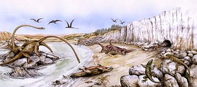 Prehistoric Landscape Print by Deagostini/uig