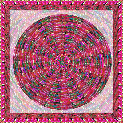 Champion Mixed Media - Premium Energy Field Chakra Goodluck Decorations Ethnic Pink Purple Art For Yoga Meditation Healing  by Navin Joshi