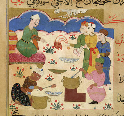 Preparation Of Halwa Print by British Library