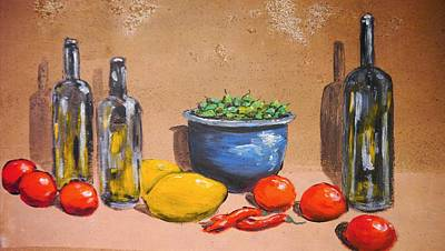 Meal Painting - Preparation Still Life by Mountain Dreams