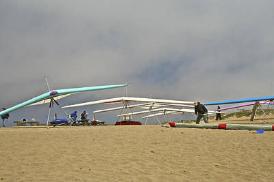 Flying Photograph - Preparing For Flight At Marina State Beach by SC Heffner