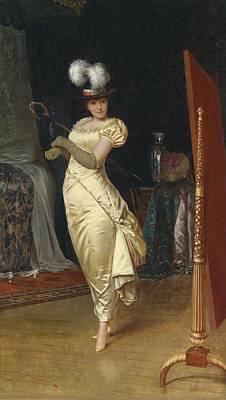 Preparing For The Ball Print by Frederick Soulacroix