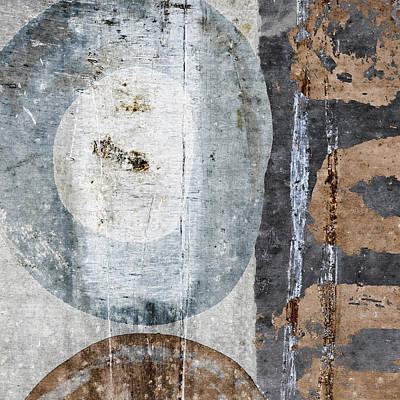 Silken Circles 2 Print by Carol Leigh