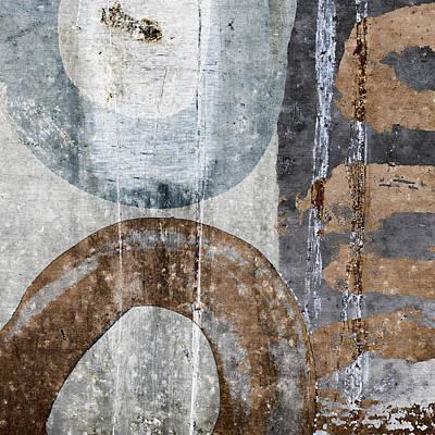 Silken Circles 3 Print by Carol Leigh