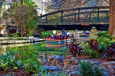 Presa Street Bridge Over Riverwalk Original by Ricardo J Ruiz de Porras
