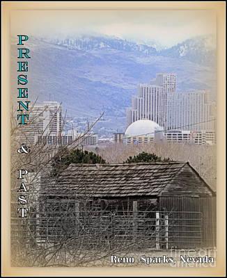 High Sierra Digital Art - Present And Past by Bobbee Rickard