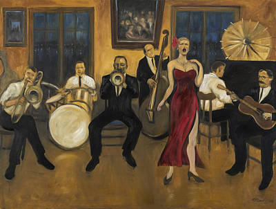 Swing Painting - Preservation Hall by Laura Lee Cundiff