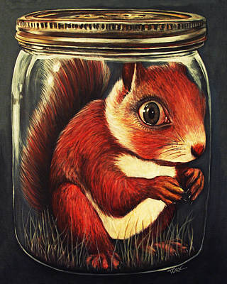 Squirrel Painting - Preserved by Joe Turk