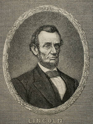 President Abraham Lincoln Print by American School