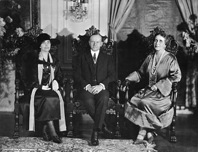 President And First Lady Photograph - President And Mrs. Coolidge by Underwood Archives