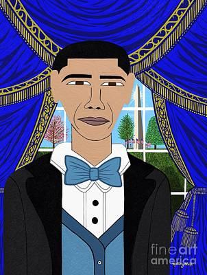 Michelle Obama Digital Art - President Barack Obama by Mallory Blake
