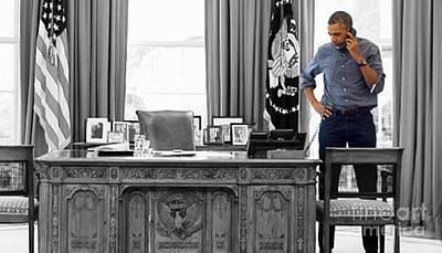 President Barack Obama Print by Doc Braham