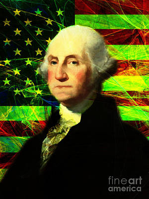 President George Washington V2 P50 Print by Wingsdomain Art and Photography