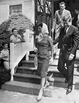 President And First Lady Photograph - President Kennedy And Jackie by Underwood Archives