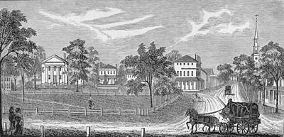 African-american Photograph - President Lincoln Leaving The Davis Mansion, Illustration From Battles And Leaders Of The Civil by William Ludlow Sheppard