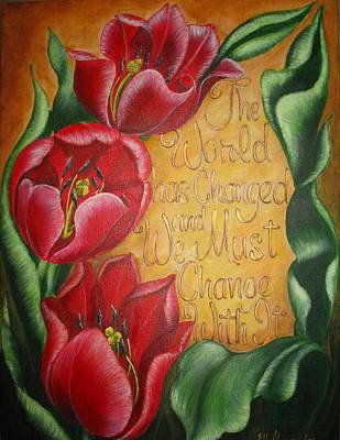 Tulip Festival Painting - President Obama's Message by Jill Alexander