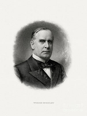 President Painting - President William Mckinley by Celestial Images