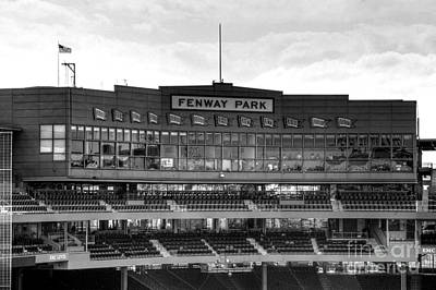 Fenway Park Photograph - Press Box by Jonathan Harper