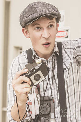 Press Photographer With Great Exposure Print by Jorgo Photography - Wall Art Gallery