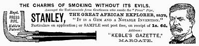 'press' Pipe, 1893 Print by Granger