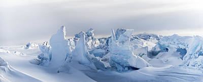 Antarctica Photograph - Pressure Ridges by Alasdair Turner