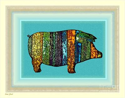 Dale Ford Digital Art - Pretty As A Pig-ture by Dale   Ford