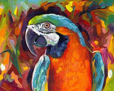 Macaw Art Painting - Pretty Bird by Eve  Wheeler