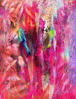 Parakeet Digital Art - Pretty Bird by Rachel Christine Nowicki