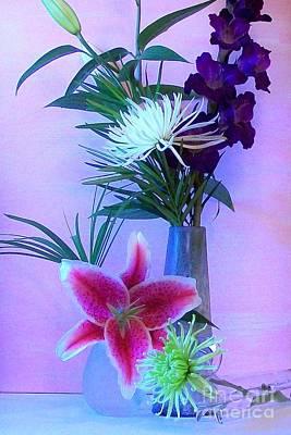 Pretty Bouquet Print by Marsha Heiken