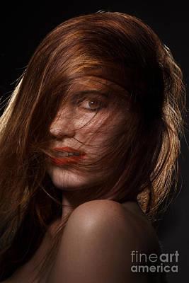 Hairstyle Digital Art - Pretty Girl by Aleksey Tugolukov