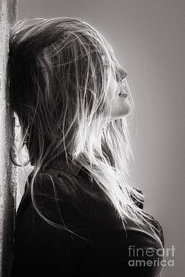 Hairstyle Digital Art - Pretty Girl With Hairs by Aleksey Tugolukov