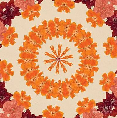 Pretty In Orange Print by Lena Photo Art