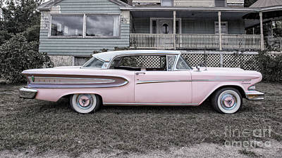 50s Photograph - Pretty In Pink Ford Edsel by Edward Fielding