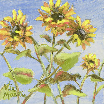 Kansas Artist Painting - Pretty In Yellow II by Vic  Mastis