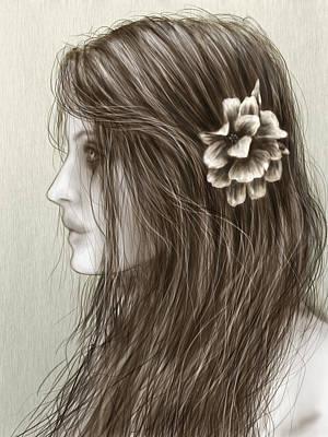 Windblown Digital Art - Pretty by Justin Gedak
