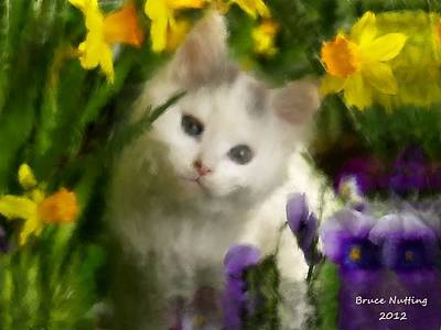 Kitten Painting - Pretty Kitty by Bruce Nutting