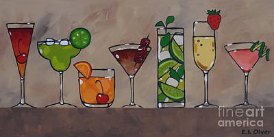 Pretty Party Drinks Original by Elisabeth Olver