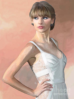 Taylor Swift Painting - Pretty Swift by GCannon