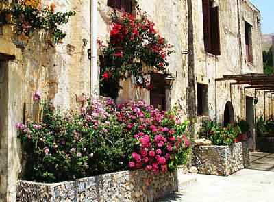 Greek Photograph - Preveli Monastery Crete Greece by Cimorene Photography
