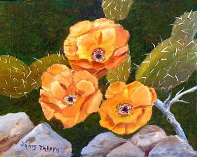 Prickley Pear Cactus Print by Janis  Tafoya