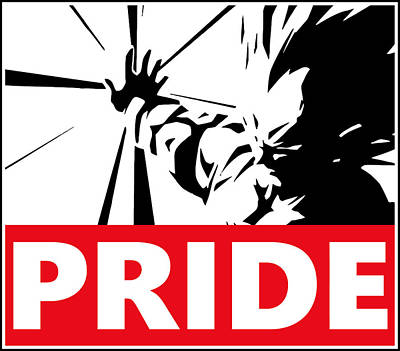 Wrestling Drawing - Pride by Danilo Caro
